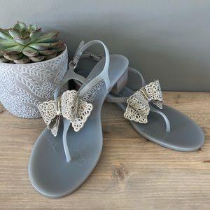 Salvatore Ferragamo Perala Bow Jelly Sandals 10